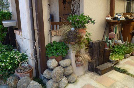 南欧風のイメージをミックスさせた庭