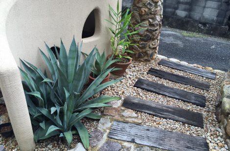 南国リゾート風の庭